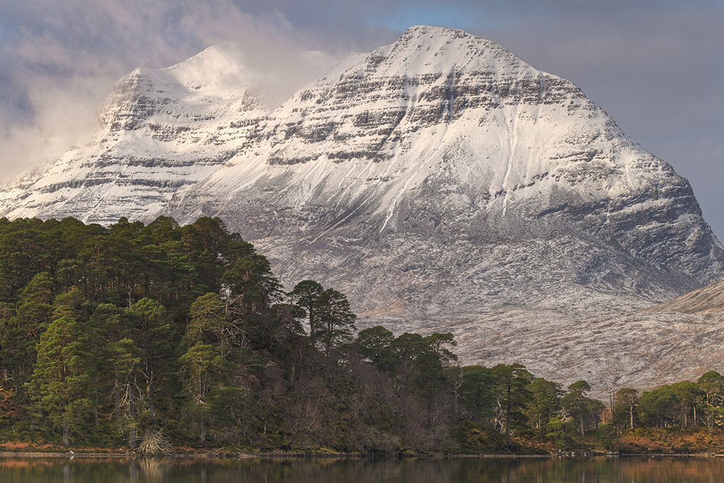 Liathach viewed from Loch Clair.